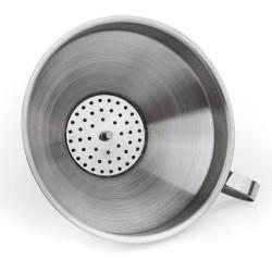 Нержавеющая воронка со съемным фильтр-ситом диаметр 15 см