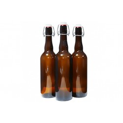 Бутылка пивная 0,33 л, коричневая, бугельная пробка
