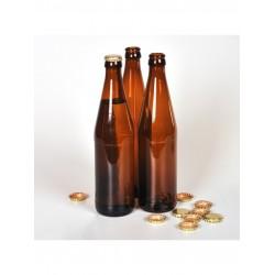 """Пивная бутылка """"Эмеральд"""", коричневая 500 мл кроненпробка"""