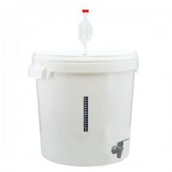 Бак для брожения с краном,гидрозатвором и термополоской