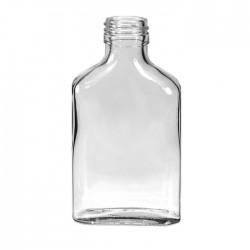 Бутылка фляжка 250 мл стекло