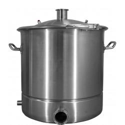 Куб 25 литров , зиговка, хомут, прокладка, крышка КОНУС кламп 1,5 и термометр электронный ТР101, выход под ТЭН