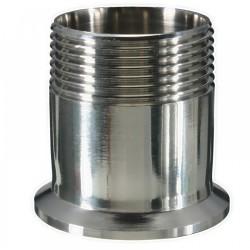 """Переходник с клампа 1,5"""" (k50,5) на внешнюю резьбу DN32 (42,4 мм). высота 50 мм."""